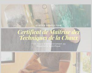 Certificat de Maîtrise des Techniques de la Chaux formation professionelle stucco perfection nice
